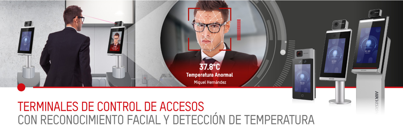 Access control with temperature measurement.